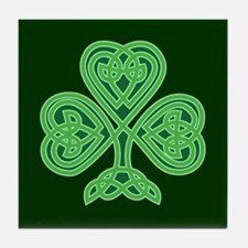 Celtic Shamrock - St Patricks Day Tile Coaster