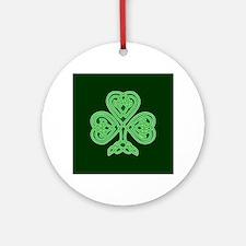 Celtic Shamrock - St Patricks Day Ornament (Round)
