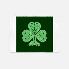 Celtic Shamrock - St Patricks Day 5'x7'Area Rug