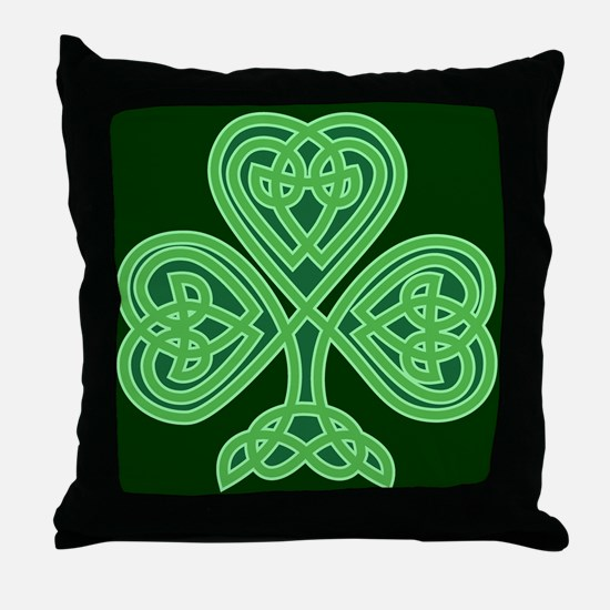 Celtic Shamrock - St Patricks Day Throw Pillow