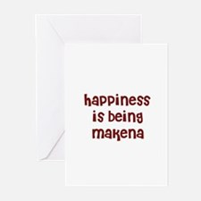 happiness is being Makena Greeting Cards (Pk of 10