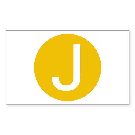 San Francisco J Rectangle Sticker