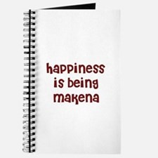 happiness is being Makena Journal
