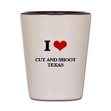 I love Cut And Shoot Texas Shot Glass