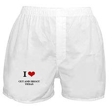 I love Cut And Shoot Texas Boxer Shorts