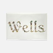 Wells Seashells Rectangle Magnet