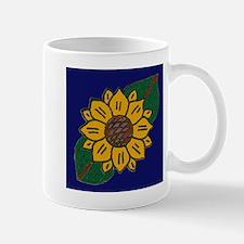 Mexican Tile Sunflower Blue Mug