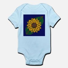 Mexican Tile Sunflower Blue Body Suit