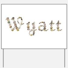 Wyatt Seashells Yard Sign