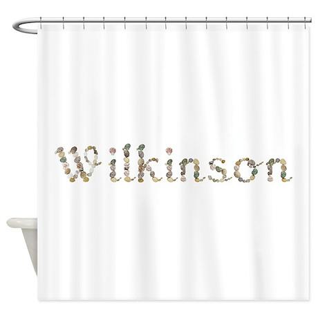 wilkinson seashells shower curtain by namestuff shells sz. Black Bedroom Furniture Sets. Home Design Ideas
