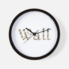Wall Seashells Wall Clock