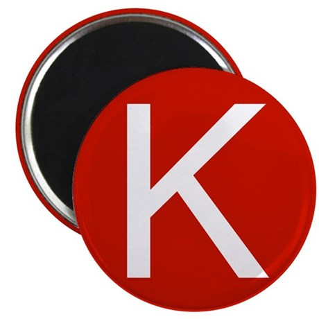 "San Francisco K 2.25"" Magnet (100 pack)"