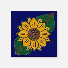 Mexican Tile Sunflower Blue Sticker