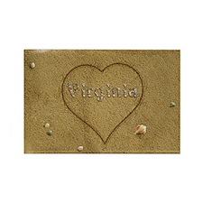 Virginia Beach Love Rectangle Magnet
