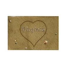 Virginia Beach Love Rectangle Magnet (100 pack)
