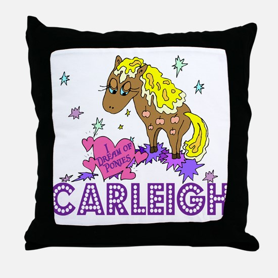 I Dream Of Ponies Carleigh Throw Pillow