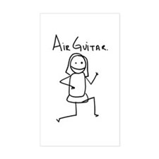 Air Guitar Rectangle Decal