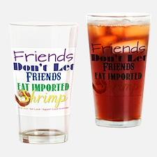 Local Shrimp Drinking Glass