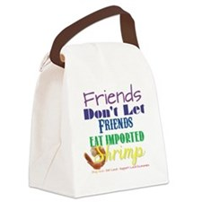 Local Shrimp Canvas Lunch Bag