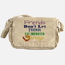Local Shrimp Messenger Bag