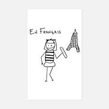 En Francais Rectangle Decal