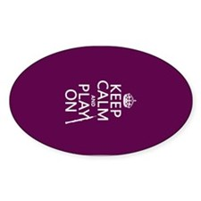 Keep Calm and Play On (oboe) Decal