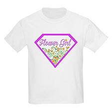 Flower Girl Superhero T-Shirt