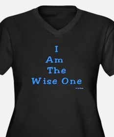 Wise One Pas Women's Plus Size V-Neck Dark T-Shirt
