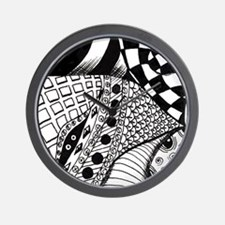KiniArt Zentangle Wall Clock