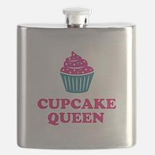 Cupcake baking queen Flask