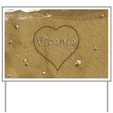Vicente Beach Love Yard Sign