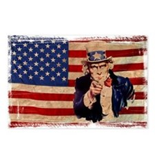 Uncle Sam Pointing Retro Distressed Postcards (Pac