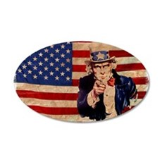 Uncle Sam Pointing Retro Distressed Wall Sticker