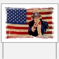 Uncle Sam Pointing Retro Distressed Yard Sign