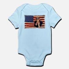 Uncle Sam Pointing Retro Distressed Body Suit