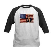 Uncle Sam Pointing Retro Distressed Baseball Jerse