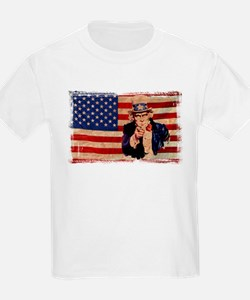Uncle Sam Pointing Retro Distressed T-Shirt