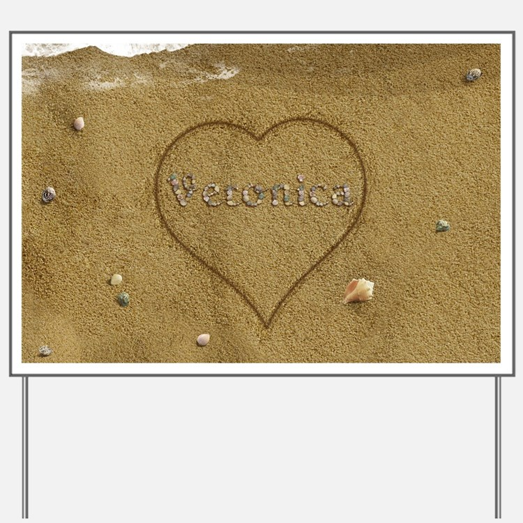 Veronica Beach Love Yard Sign