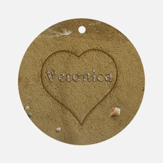 Veronica Beach Love Ornament (Round)