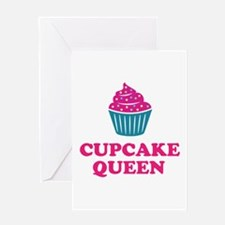 Cupcake baking queen Greeting Cards