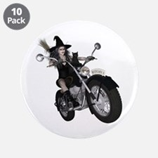 """Witchy One ~ Speedy 3.5"""" Button (10 pack)"""