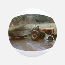 "Farmer & Tractor 3.5"" Button"