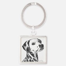 Dalmation Square Keychain