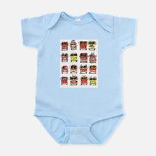Cute Firefighters Infant Bodysuit