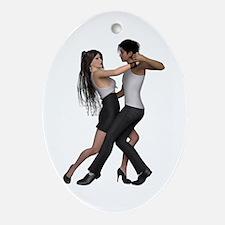 Dancers ~ Argentine Tango 3 Ornament (Oval)
