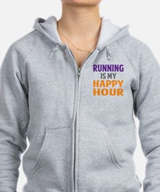 Running Is My Happy Hour Zip Hoodie