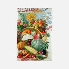 1898 Plant and Seed Guide Rectangle Magnet