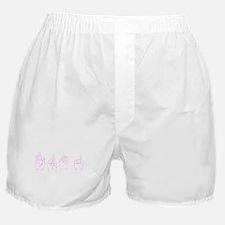 Pink ASL FROG Boxer Shorts