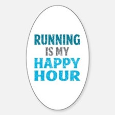 Running Is My Happy Hour Decal