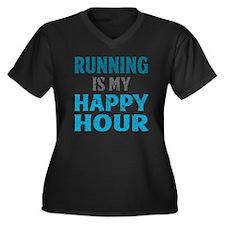 Running Is M Women's Plus Size V-Neck Dark T-Shirt